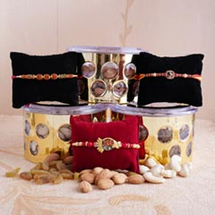 Healthy and sweet Rakhi combo