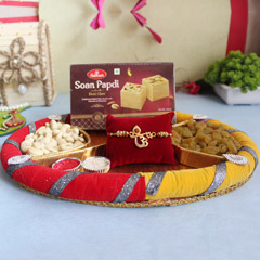 Divine Rakhi with healthy dry fruits