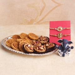 Ganpati Rakhi Hamper for Brothers