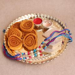 Flavorful Sweet & Savory Rakhi Combo