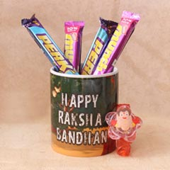 LED Chhota Bheem Rakhi & Chocolate Combo