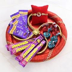 AD Rakhi Chocolate Thali
