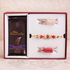 Peacock Rakhi & Bournville Signature Box