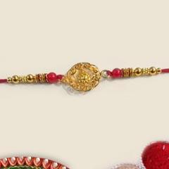 Designer Golden Rakhi