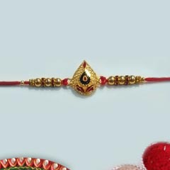 Meenakari Golden Rakhi