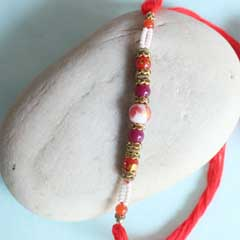 Colorful Pearls Rakhi