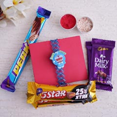 Doremon Rakhi Chocolate Combo