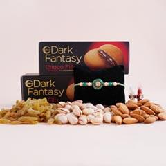 Stone Rakhi with Dryfruits N Dark Fantasy