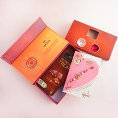 Golden Rakhi N Temptation in Signature Box