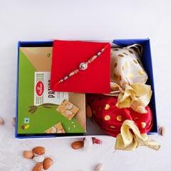 Designer AD Rakhi N Dryfruits in Signature Box