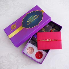 Golden Rakhi N Bourneville in Signature Box