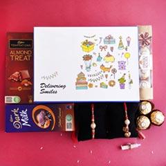 Bhaiya Bhabhi Rakhi N Chocolates in Signature Box