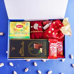 Healthy Signature Box with Rudraksha N Ganesha Rakhi
