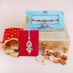 Dryfruit Signature Box with Designer Bhaiya Bhabhi Rakhi