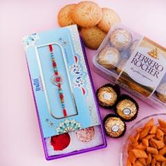 Rakhi Signature Box with Ferrero Rocher N Haldiram Snacks