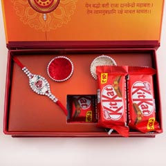 Silver Rakhi with Chocolates in Signature Box