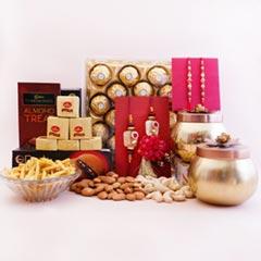 Family Rakhi Set with Gifts Hamper