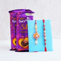 Bhaiya Bhabhi Rakhi with Chocolates