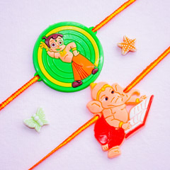 Ganesh Rakhi Set for Kids