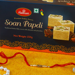 Traditional Soan Papdi Sweet Rakhi Hamper