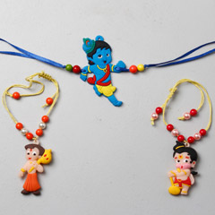 Set Of 3 Kids Cartoon Rakhi