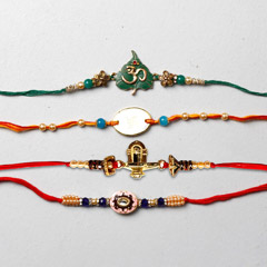 Set Of 4 Designer Rakhis