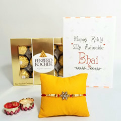 Sunshine Rakhi with Ferrero Rocher