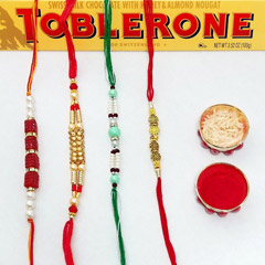 Quad Rakhi with Toblerone