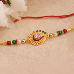 Shiny Multicolored Rakhi