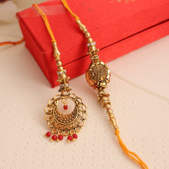 Attractive Lumba Rakhi set