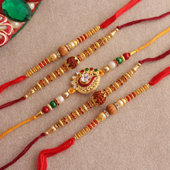 Enchanting Set of 5 Rakhis