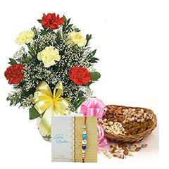 Mix Carnation with dry fruits