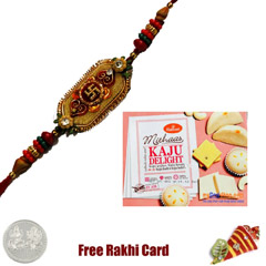 1 Rakhi with Haldiram Kaju Delight 400 grams