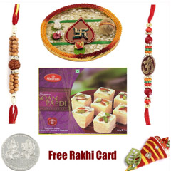 Rakhi Thali with Haldiram Soan Papadi small