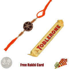 Ethnic Rakhi with Toblerone Bar