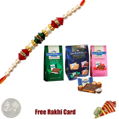 Ghirardelli Chocolate Squares Party Assortment - Pack of 5 Rakhi Delight