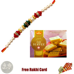 1 Rakhi  with Haldiram Kaju Burfee 400 grams