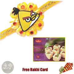 Kids Rakhi with 500 gms Soan Papadi