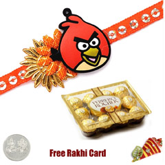 Kids Rakhi with 12 Piece Ferrero Rocher