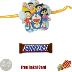 Kids Rakhi with Snicker Bar
