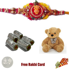 Assorted Rolls Soft Toy Rakhi Pack - Small
