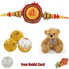 Boondi Ladoo Soft Toy Rakhi Pack - Large