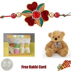 Assorted Sweets Soft Toy Rakhi Pack - Large
