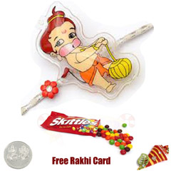 Bal Hanuman Rakhi with Skittles 1.5 Oz
