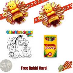 Kids Rakhi Coloring Pack 1