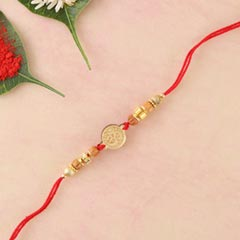 Aum Golden Shining Rakhi Thread