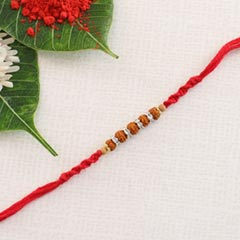 Traditional Rudraksha Rakhi Thread