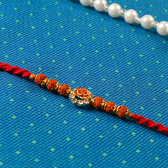 Aum Diamond Rudraksha Rakhi Thread