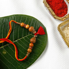 Fancy Designer Sandalwood Rakhi Thread