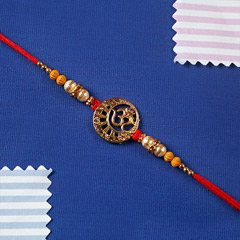 Diamond on Aum Rakhi Thread